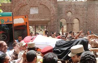 الآلاف من أبناء فوه بكفرالشيخ يشيعون جثمان الشهيد الملازم أول مهندس أحمد نصر الله | صور
