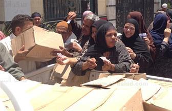 توزيع 2750 كرتونة منتجات غذائية و1200 بطانية على أسر تكافل وكرامة بالقليوبية