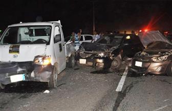مصرع وإصابة 5 أشخاص في حادث تصادم 4 سيارات بالإسكندرية الصحراوي