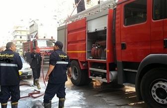 السيطرة على حريق داخل بنزينة بالقرب من مدينة بدر