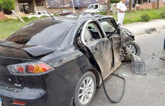 إصابة شخصين في حادث تصادم سيارتين بشارع جوزيف تيتو