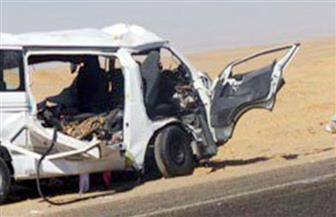 """""""صحة مطروح"""": إصابة 14 راكبًا في حادث  انقلاب سيارة ميكروباص"""