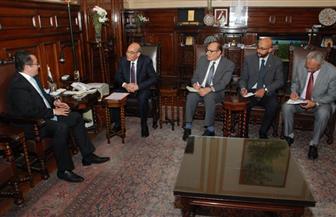 وزير الزراعة يبحث مع سفير كازخستان سبل التعاون الزراعي بين البلدين