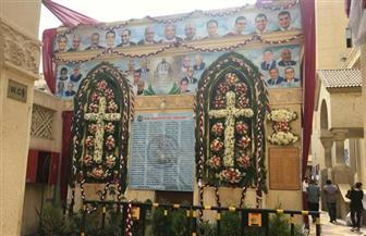 كنيسة مار جرجس بطنطا تقيم قداس ذكرى الأربعين على شهداء التفجير الإرهابي | صور