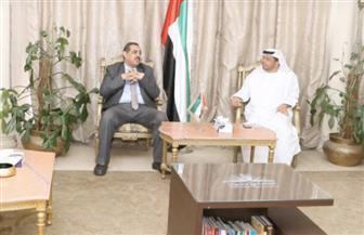 الطنيجي يستقبل مدير مستشفى الشيخ زايد ووكيل وزارة الصحة