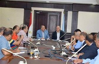 وزير الري ومحافظ البحر الأحمر يشهدان عرضًا لمشروع الحماية من أخطار السيول