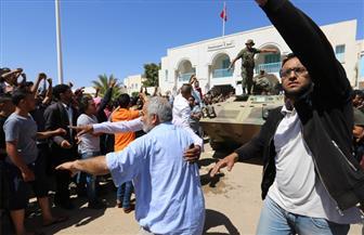 محتجون شيعة يتظاهرون أمام السفارة البحرينية في العراق