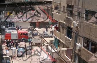 الحماية المدنية تدفع بعدد كبير من سيارات الإسعاف للسيطرة علي حريق إمبابة.. والباعة الجائلون يخلون أماكنهم  صور