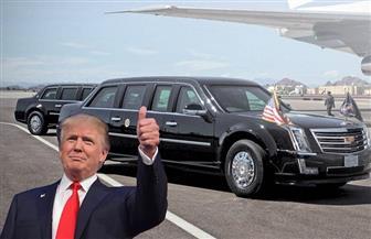 """ترامب يدخل القصر الملكي البلجيكي ماشيًا بعد عجز """"الوحش الأمريكي"""""""