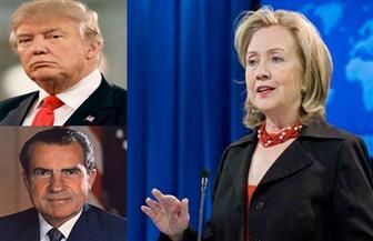 """كلينتون تشبه ترامب بـ""""نيكسون"""" خلال فضيحة """"ووتر جيت"""""""