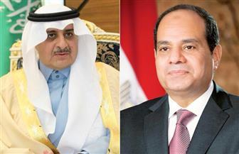السيسي يتلقى اتصالًا هاتفيًا من الأمير فهد ويعرب عن خالص تعازيه في ضحايا حادث المنيا الإرهابي