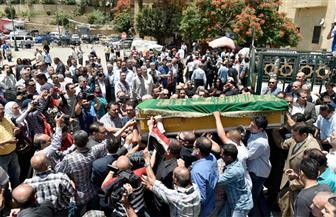 """تشييع جنازة الشاب محمد عيد """"ضحية قطار الإسكندرية"""" بشبرا الخيمة"""