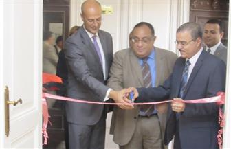 رئيس جامعة حلوان يفتتح أول مكتبة علمية في مجال الملكية الفكرية بالشرق الأوسط   صور