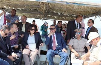 """""""نصر"""" و""""محرز"""" يقودان حملة إزالة التعديات على بحيرة البرلس"""