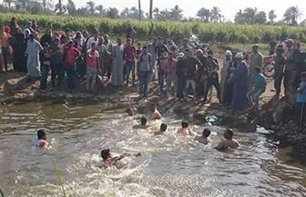 انتشال جثة شاب غرق في مصرف ببني سويف