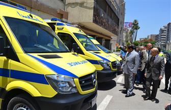 محافظ الغربية يتفقد 5 سيارات إسعاف جديدة منحة من وزارة الصحة | صور