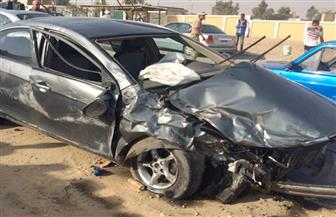 مصرع ٥ أشخاص وإصابة ٤ آخرين في حادث تصادم بطريق حلوان الكريمات الصحراوي
