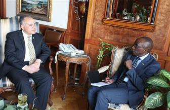 وزير الري يبحث مع سفير رواندا مسودة مذكرة تفاهم في مجال الموارد المائية