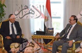 """""""ياسر القاضي"""" يلتقي """"عبدالمحسن سلامة"""" و""""الطاروطي"""" لبحث التعاون المشترك بين """"الاتصالات"""" و""""الأهرام"""""""