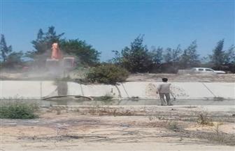 أبوزيد: إزالة التعديات على ترعة الشيخ زايد بالحمام | صور