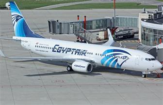 وصول طائرة مصر للطيران الجديدة من طراز بوينج 737/ 800 إلى مطار القاهرة
