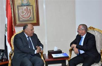 وزير الخارجية يلتقي مبعوث الأمم المتحدة لليبيا ويبحثان تطورات العملية السياسية |صور