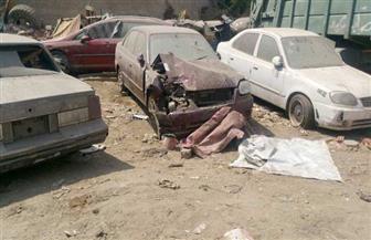 منعًا لاستخدامها فى أعمال تخريبية.. رفع 36 سيارة متهالكة من شوارع حى الزيتون