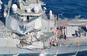 """اصطدام المدمرة الأمريكية """"فيتزجيرالد"""" بسفينة شحن في بحر اليابان وإصابة قائدها وفقدان 7 من بحارتها"""