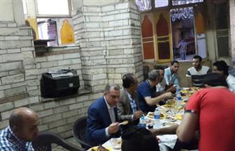 """مسئولو صندوق تطوير المناطق العشوائية يلبون دعوة أهالي """"مثلث ماسبيرو"""" على الإفطار الرمضانى"""
