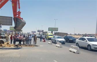 حي غرب مدينة نصر يعالج حالة الهبوط الأرضي بشارع الشركات