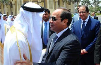 السيسي يودع ولي عهد أبو ظبي بمطار القاهرة الدولي | صور