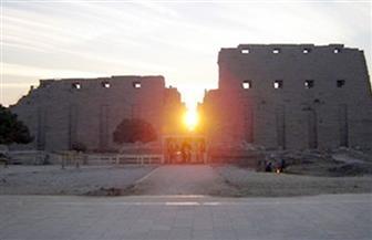 غدًا.. الشمس تغرب من البوابة الغربية لمعبد الكرنك تزامنًا مع الانقلاب الصيفي