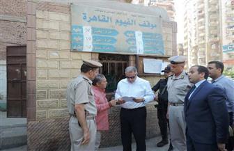 """""""شلبي"""" يتفقد قوات التأمين والمواقف للتأكد من الانضباط الأمني في الفيوم"""