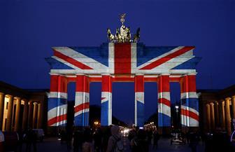 """بوابة """"براندبورج"""" فى برلين تضاء بألوان العلم البريطاني تضامنا مع ضحايا هجوم لندن"""