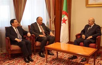 رئيس الوزراء الجزائري يستقبل وزيري خارجية مصر وتونس لبحث الأزمة الليبية