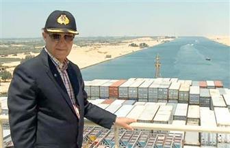 مميش: عبور ثالث أكبر سفينة حاويات في العالم قناة السويس الجديدة