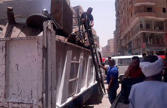 حملة لإزالة إشغالات بشارع ترعة عبد العال1 وشارع الأربعين | صور