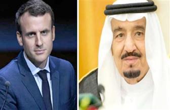 """في اتصال هاتفي بين الزعيمين.. """"سلمان"""" و """"ماكرون"""" يؤكدان حرصهما على مكافحة الإرهاب"""