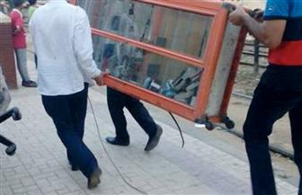 إتلاف 54 عربة يد وكارو في حملة لإزالة الإشغالات بالمطرية