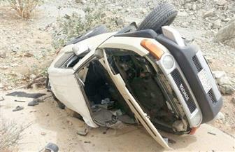 مصرع وإصابة 9 أشخاص في حادث انقلاب سيارة بطريق الفيوم الصحراوي