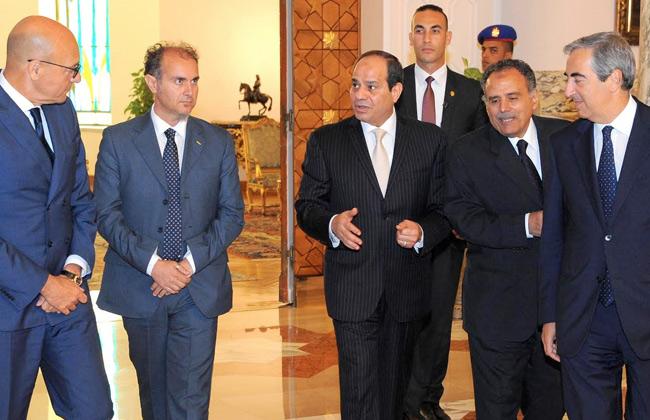 الرئيس يستقبل وفداً من البرلمان الإيطالي