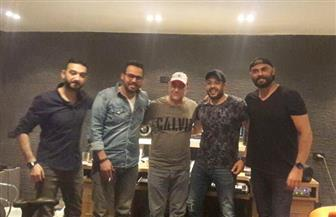 حماقي يواصل التحضير لألبومه الجديد مع بهاء الدين ونادر وحسني  صور