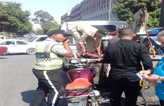 أمن القاهرة يشن حملة على  الدراجات النارية المخالفة بعد هجوم البدرشين