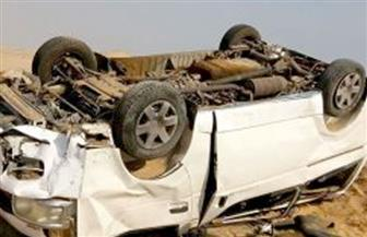 إصابة 13 زائرة صحية فى حادث انقلاب ميكروباص بأطفيح