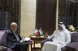 خلال لقائه ولي عهد أبوظبي.. وزير خارجية فرنسا: مكافحة الإرهاب هي الأولوية رقم واحد ويجب وقف دعمه وتمويله