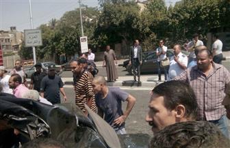 مصرع شخصين وإصابة 2 آخرين إثر حادث تصادم بمحور صلاح سالم | صور