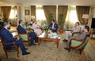 وزير التعليم العالي يلتقي المرشحة المصرية لمنصب مدير عام منظمة اليونسكو