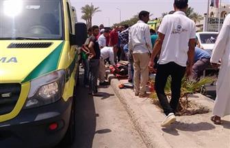 إصابة سيدة في حادث سير علي طريق الأتوستراد