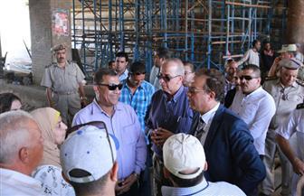"""وزير النقل يتابع تطوير طريق إسكندرية الزراعي وأعمال الصيانة بطريق """"دفرة - كفر الزيات""""  صور"""