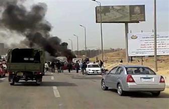 حادث مروري يتسبب في إغلاق الطريق الدائري للقادم من مدينة السلام في اتجاه المطار